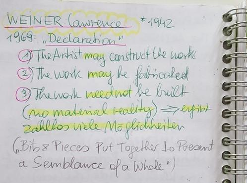 Weiner, Declaration zugeschnitten, 1969