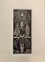 Louise und ich in NY, Mehrplattendrucktechnik, 2017, 16,5 x 39,5 cm