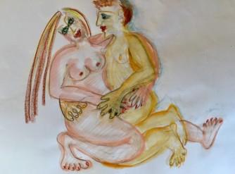 Lust #2, Mischtechnik, 2018, 21,0 x 29,7 cm