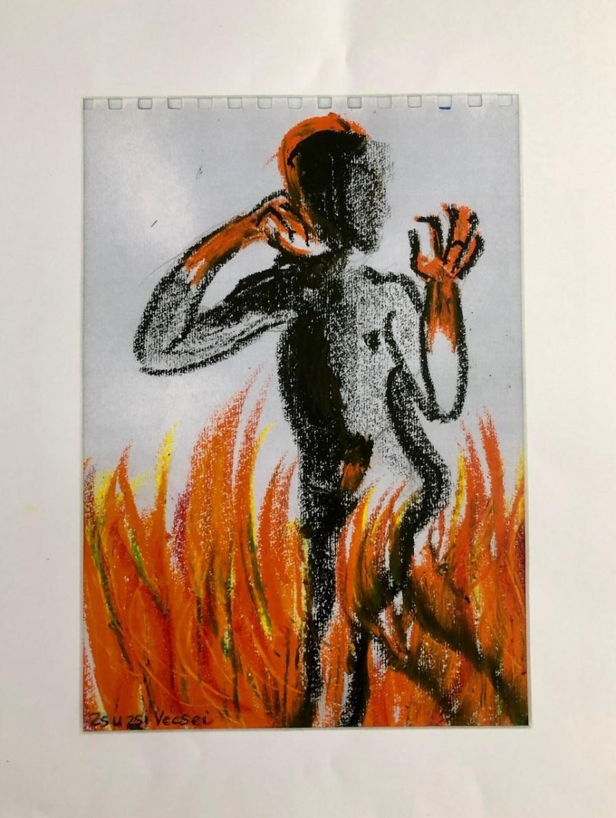 o.T., Mischtechnik, 2018, 21 x 30 cm